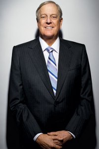 David H. Koch, donor to many Tea Party activist groups/politicians, with net worth of $41.2 billion