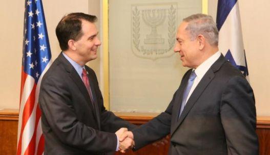 Walker meeting with Israeli Prime Minister, Benjamin Netanyahu - Image Credit to Matt Brooks