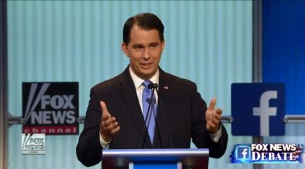 Walker in first GOP presidential debate